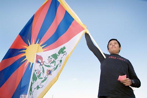 Die tibetische Flagge wird auch in Lörrach gehisst.  Foto: zVg Foto: Die Oberbadische