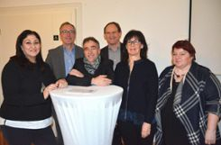 Informierten (v.l.): Nilufar Hamidi, Christoph Huber, Volker Hentschel, Andreas Rühle, Gabriele Moll und Angelika Schilling. Foto: Marco Fraune