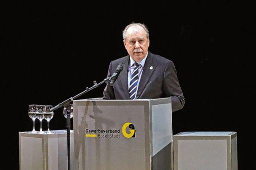 Gewerbepräsident Marcel Schweizer trat in seiner Neujahrsrede für mehr Vielfalt ein. Foto: zVg/T. Stöcklin