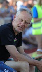 SC-Trainer Christian Streich gibt sich volksnah. Foto: Die Oberbadische