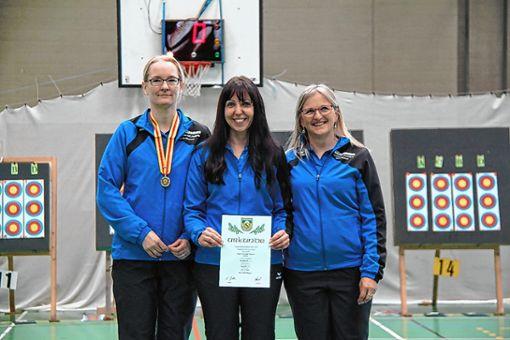 Die Mannschaft mit Elisabeth Keßler, Martina Keller und Ute Rapp wurde Landesmeister. Foto: zVg