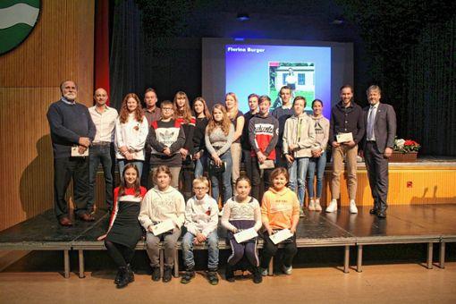Der Neujahrsempfang bot die Bühne, um erfolgreiche Sportler zu ehren. Foto: Anja Bertsch