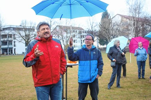 Skizzierte die Idee eines Generationenparks: Grünen-Vorsitzender und Landschaftsarchitekt  Roland Matzker. Foto: Markgräfler Tagblatt