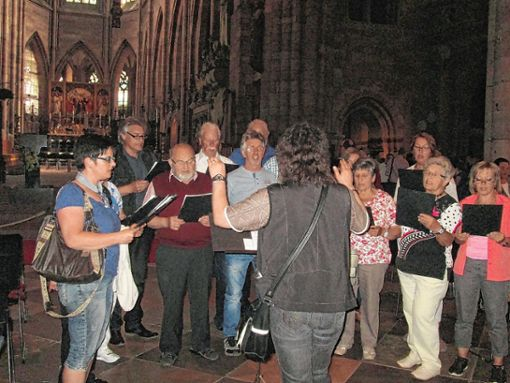 Der Gesangverein Bürchau besuchte jüngst das Freiburger Münster.    Foto: Birgit Kiefer Foto: Markgräfler Tagblatt