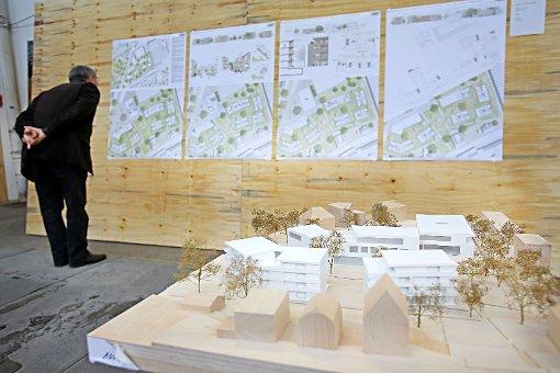 Der Entwurf des Architekturbüros Thoma.Lay.Buchler und acht weitere wurden am Wochenende im Atelier Schöpflin ausgestellt. Foto: Kristoff Meller Foto: Kristoff Meller