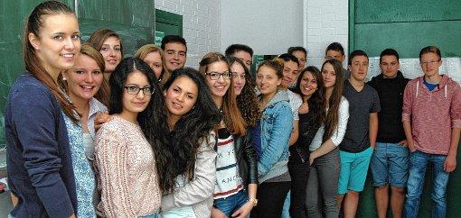 Die Klasse 9b des Georg-Büchner-Gymnasiums in Rheinfelden hatte gestern Besuch.  Foto: Ulf Körbs Foto: Die Oberbadische