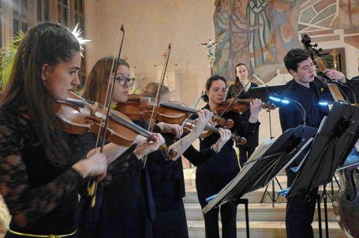 Das Landesjugend-Barockorchester Baden-Württemberg begeisterte in der Kirche St. Michael in Grenzach. Foto: Willi Vogl