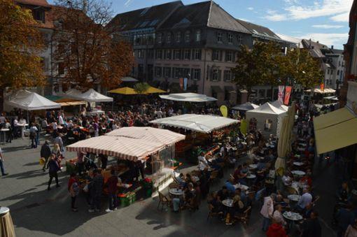 Impressionen vom Herbstfest von Pro Lörrach in der Innenstadt. Foto: Veronika Zettler Foto: anl