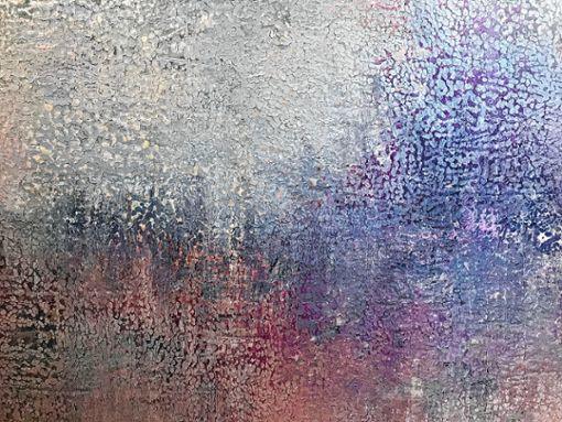 Vielschichtige Ölgemälde von  Ania Dziezewska  gehören zu den Bildern, die bei der Art Fair ausgestellt sind.   Foto: zVg Foto: Markgräfler Tagblatt