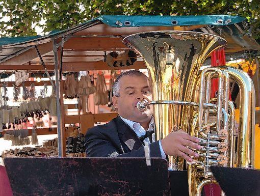 Kunstliebhaber trafen sich beim Kunst- und Weinfest auf Schloss Beuggen. Dazu gehörte auch Musik.   Foto: Petra Wunderle Foto: Die Oberbadische