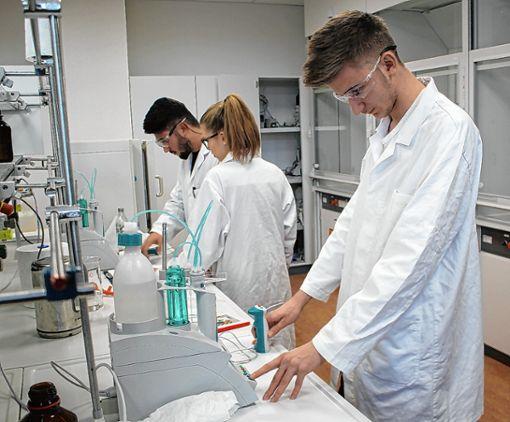 Ab dem Schuljahr 2019/20 wird an der Gewerbeschule Rheinfelden auch der Bildungsgang Pharmazeutisch-Technischer Assistent (PTA) angeboten. Die Labore genügen bereits jetzt modernen Ansprüchen. Foto: Gerd Lustig
