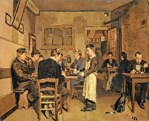 """""""Die Pension"""" von Ferdinand Hodler, 1879   Foto: Kunstmuseum Basel, Martin P. Bühler Foto: Die Oberbadische"""