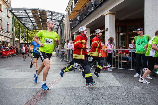 Bambini, Hobbyläufer und natürlich auch alle Feuerwehrmänner können sich noch bis Dienstag für den Lörracher Stadtlauf anmelden.    Foto: Kristoff Meller Foto: Die Oberbadische