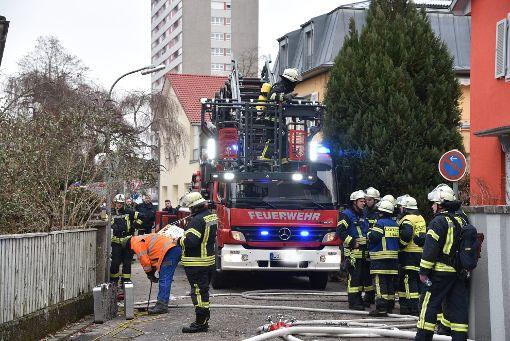 Die Feuerwehr Lörrach war mit   rund 40 Mann im  Einsatz.  Foto: Martin Eckert Foto: Die Oberbadische
