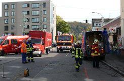 Die Feuerwehr sicherte den Straßenabschnitt. Foto: Die Oberbadische