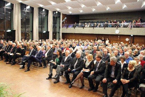 Bestens besucht war das Haus der Begegnung beim Neujahrsempfang der Gemeinde.  Foto: Rolf Reißmann Foto: Die Oberbadische