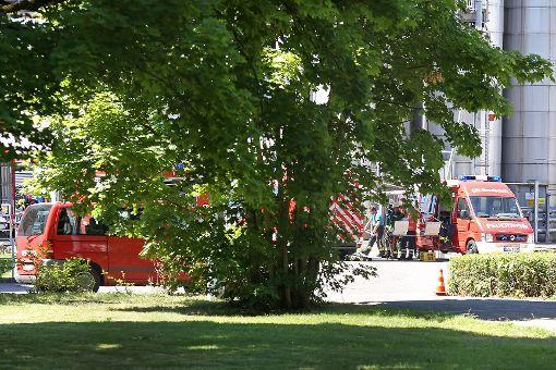 Die Feuerwehr war mit einem Großaufgebot vor Ort. Foto: Kristoff Meller Foto: Kristoff Meller