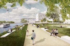 Eine Visualisierung der Rheinuferpromenade, wie sie sich nach der Umgestaltung präsentieren soll. Foto: Weiler Zeitung