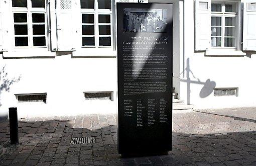 Die Stele in der Teichstraße erinnert  ausschließlich an  jüdische Opfer, für andere Opfer des NS-Regimes fehlt bislang eine Gedenkestätte in Lörrach.                Foto: Kristoff Meller Foto: Die Oberbadische