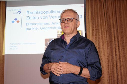 Politikwissenschaftler Ulrich Eith hielt einen Vortrag. Foto: Markgräfler Tagblatt
