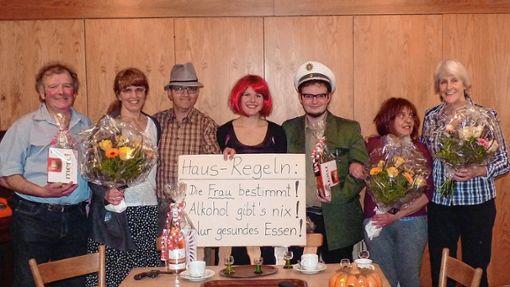 Für Heiterkeit sorgte das  Theaterensemble.   Foto: Sonja Eiche Foto: Markgräfler Tagblatt