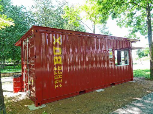 """Die Treff- und Info-Box im Rheinpark in Weil am Rhein lädt zum Spielen und """"Chillen"""" ein.   Foto: zVg Foto: Weiler Zeitung"""