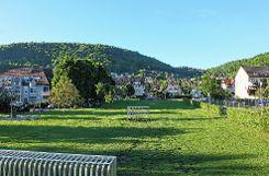 """Auf dem ehemaligen Schlosser-Areal wird als Teil der Neuen Mitte Grenzach ein """"Stadthain"""" genanntes Zentrum entwickelt.  Foto: Tim Nagengast Foto: Die Oberbadische"""