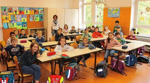Aufgeweckte Grundschüler: die 4c mit Klassenlehrerin Ina Bodderas    Foto: Bernhard Konrad Foto: Die Oberbadische