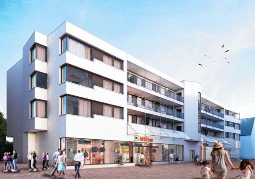 So soll das fertige Gebäude bei der Eröffnung im Herbst 2019 aussehen. Skizze: BPD Foto: Markgräfler Tagblatt