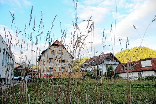 Der Gemeinderat Schönau billigte den Bauantrag für ein Mehrfamilienhaus auf dem ehemaligen Bahngelände.   Foto: Anja Bertsch Foto: Markgräfler Tagblatt