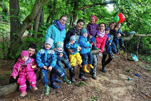 """Die Waldspielgruppe feierte den """"Internationalen Tag des Waldkindergartens"""".   Foto: zVg Foto: Die Oberbadische"""