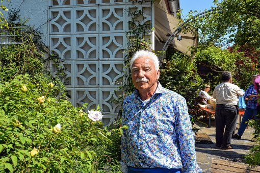 Günter Rosskopf öffnete seinen Garten..    Foto: Silvia Waßmer Foto: Die Oberbadische