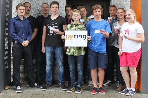 """Das Team """"raecing"""" des Schülerforschungszentrums Phaenovum taucht ein in die Formel-1-Welt.   Foto: Michael Werndorff Foto: Die Oberbadische"""