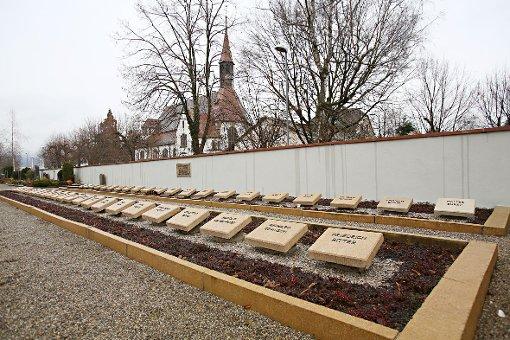 Das Ehrenfeld auf dem Brombacher Friedhof Foto: Kristoff Meller Foto: Kristoff Meller
