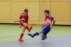 Die U12 des   FC Bayern München  (links ) gewinnt das Platzierungsspiel gegen den FC Basel  mit  1:0. Foto: Die Oberbadische