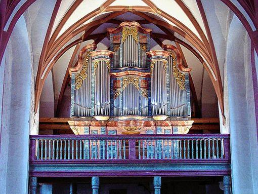 Die Stein-Orgel in der Alten Kirche ist in einem neuen Kalender zu sehen – und zu hören. Foto: Archiv