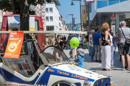 """Unter dem Motto """"Wir können Klimaschutz"""" fand am Samstag der dritte Energie- und Umwelttag der Stadt Lörrach auf dem Alten Markt statt. Foto: Regine Ounas-Kräusel Foto: Regine Ounas-Kräusel"""