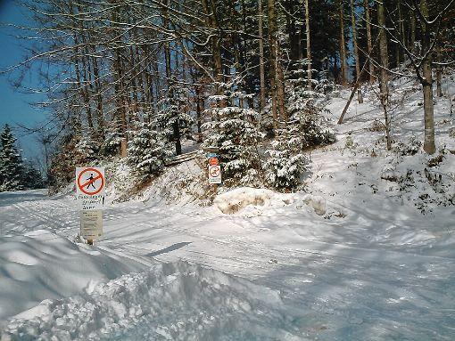 Wo für Skilangläufer gespurt ist, sollten keine Fußgänger unterwegs sein.    Foto: Rolf-Dieter Kanmacher Foto: Markgräfler Tagblatt