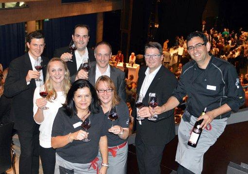 Ein Eldorade für Weinfans war am Wochenende die Weinmesse von Hieber im Lörracher Burghof. Foto: Silvia Waßmer Foto: Silvia Waßmer