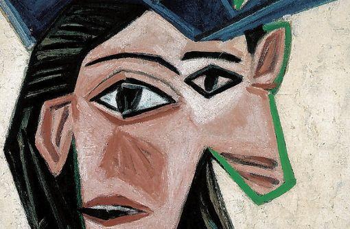 """Pablo Picasso, """"Buste de femme au chapeau"""" (Dora), 1939. (Ausschnitt) Foto: Peter Schibli"""