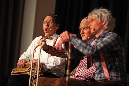 Impressionen der Lörracher Zunftabend-Premiere in der Alten Halle in Haagen. Fotos: Kristoff Meller Foto: mek