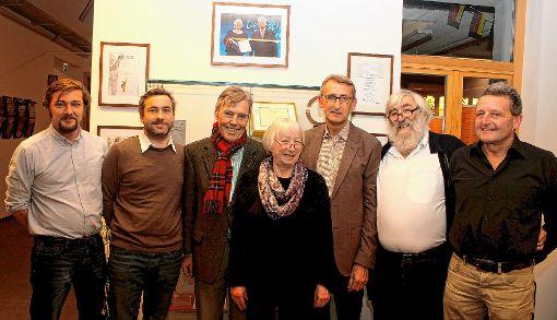 Sebastian und Alexander Sladek, Josef Göppel, Ursula Sladek, Armin Schuster,  Michael Sladek und Rolf Wetzel (von links).   Foto: zVg Foto: Markgräfler Tagblatt