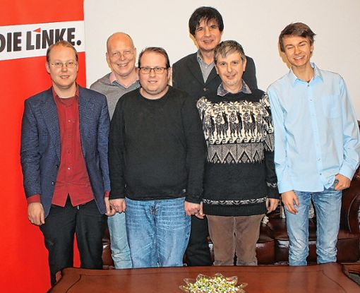 Kandidieren für den Kreistag (von links): Stefan Rauscher, Rüdiger Lorenz, Volker Hügel, Jörg-Uwe Sanio, Franz Habig und Felix Rogge. Foto: Gerd Lustig