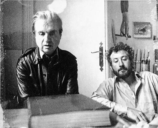 Francis Bacon und Michael Peppiatt in David Hockney's Studio in Paris in 1975. Foto: Courtesy of Michael Peppiatt Foto: Die Oberbadische