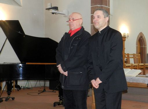 Martin Graff (l.) und Pierre Laurent Boucharlat    Foto: Dorothea Gebauer Foto: Die Oberbadische