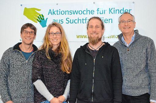 Setzen sich für Kinder aus Suchtfamilien ein: (von links) Frank Meißner, Michaela Popp, Oliver Baumgartner und Michael Hellmann.    Foto: Sarah Trinler Foto: Die Oberbadische
