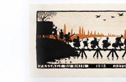 Der pro-französische elsässische Zeichner Hansi karikiert die Vertreibung der Altdeutschen aus dem Elsass. Foto: Sammlung Dreiländermuseum