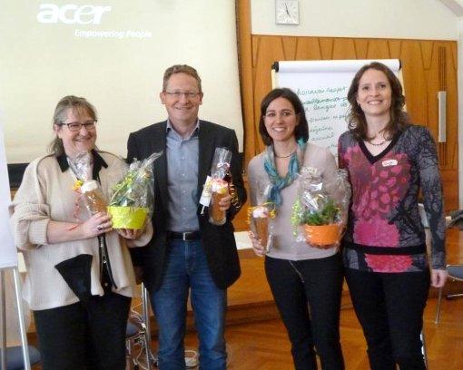Referenten und Organisatoren: Florence Lorenz, Daniel Bäumlin, Carolin Cordier und Sonja Saad (von links)   Foto: zVg Foto: Die Oberbadische