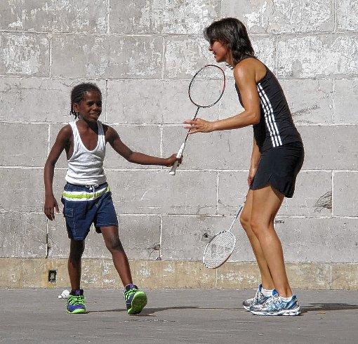 Nicole Grether spielte auch auch den Straßen von New York mit Kindern.  Foto: zVg Foto: Die Oberbadische