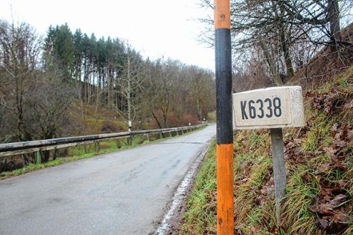 Steht auf der Prioritätenliste des Landkreises nicht weit oben: die K6338.    Foto: Anja Bertsch Foto: Markgräfler Tagblatt
